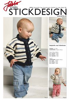 Check out the beautiful pattern of this baby cardigan!
