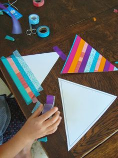 mousehouse: A Washi Tape Craft Party- DIY washi bunting