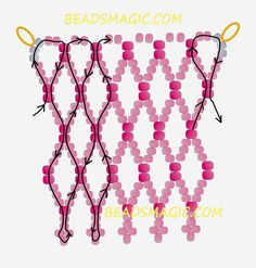 Free pattern for necklace Pembe | Beads Magic