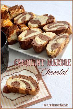 Croquant ou croquet marbre chocolat | La cuisine de Djouza