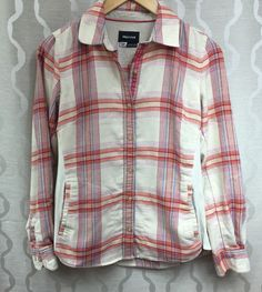 Marmot Womens Maci Plaid Flannel Long Sleeve Shirt Rib Side Panels Size Small S #Marmot #ButtonDownShirt #Casual
