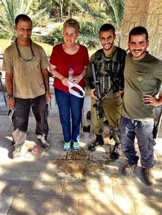 This is fascinating.  Israeli military at the Jordan River with tourists.  The men were very friendly and allowed a photo with a member of the tourist group from Church of the Resurrection from Kansas City.