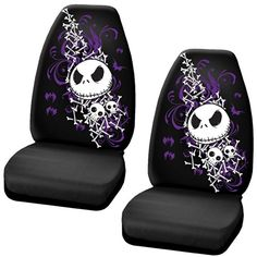 Nightmare Before Christmas Jack Skellington Purple Bats and Cross Bones Tim Burton Disney Car Truck SUV Universal-fit Bucket Seat Covers - PAIR LA Auto Gear http://smile.amazon.com/dp/B00KPYBM8K/ref=cm_sw_r_pi_dp_V.mfub18K1S4K
