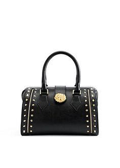 Versace - VERSUS CARRYALL BAG WITH GOLD DETAILS