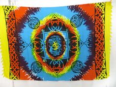 rainbow tie dye celtic knotwork sarong alta clothes $4.95 - http://www.wholesalesarong.com/blog/rainbow-tie-dye-celtic-knotwork-sarong-alta-clothes-4-95/