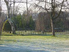 Birkheads Secret Gardens willow fence around fairy garden.
