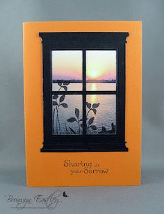 Grand Madison Window, SU Just Believe, Thoughts and Prayers, stamp on photo