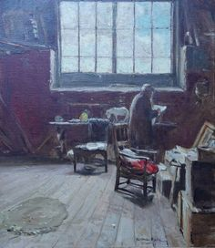 Alexander Roche Scottish Glasgow Boy Interior Richard Taylor Fine Art Richard Taylor, In His Time, Glasgow School Of Art, Red Walls, His Travel, Artist Names, Artist At Work, Oil On Canvas, Paintings