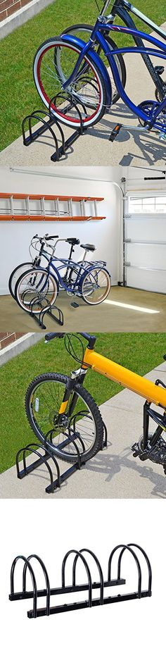 Bicycle Stands and Storage 158997: Bike Standing Storage Rack Garage Floor Bicycle Stand 3 Bikes Parking Organizer -> BUY IT NOW ONLY: $40 on eBay!