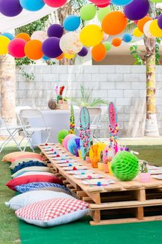 Make it Stylish Events's Birthday / Kidchella - Photo Gallery at Catch My Party Outside Birthday, Picnic Birthday, Outdoor Birthday, Birthday Party For Teens, 16th Birthday, Birthday Ideas, Cochella Theme Party, Festival Themed Party, Hawaian Party