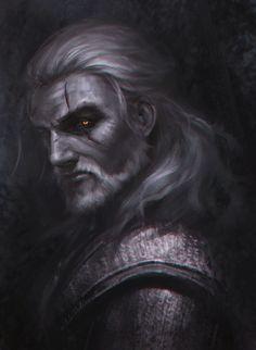 ArtStation - Witcher3 fan art-Geralt of Rivia, wes x
