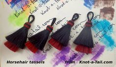 Horsehair tassel THICK Double layer Natural horse by Knotatail