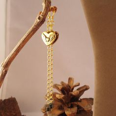 My Winged Heart Belongs to you Brass gold filled by charm1966, $24.00