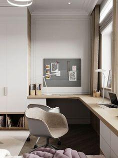 Modern Home Office Design Ideas For Inspiration - HomyBuzz Interior Design Atlanta, Interior Design Pictures, Office Interior Design, Office Interiors, Creative Office Space, Home Office Space, Home Office Decor, Office Ideas, Office Spaces