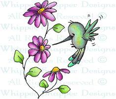 Hailey Hummingbird - Birds - Animals - Rubber Stamps - Shop