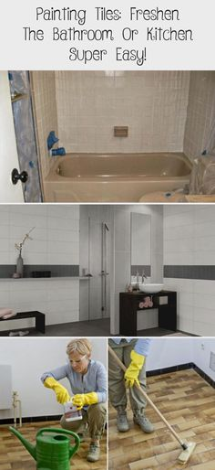 Painting tiles: freshen the bathroom or kitchen super easy!