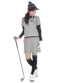 フィラゴルフ 16年秋冬新作 ダンボールニットワンピース 796440 通販。女性人気No.1のレディースゴルフウェア通販【ビビゴルフ(vivd golf)】