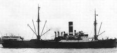 24 juli 1942 Het vrachtschip ss 'Telamon' (1928) van de KNSM,   http://koopvaardij.blogspot.nl/2015/07/24-juli-1942.html