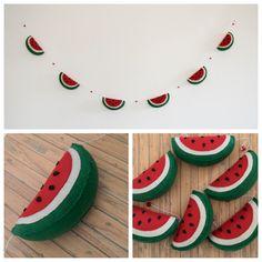 felt watermelon - melancia de feltro