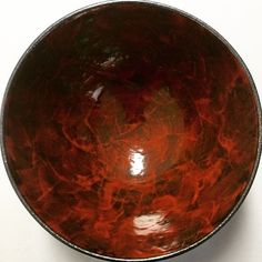 Fresh out of the kiln, something new - wheel thrown by Corey and decorated by the both of us. The photo doesn't do this bowl any justice. In the flesh, it looks like fire with flecks of silver, red and a little amber. Pretty spesh! #clay #ceramics #ceramicist #ceramicart #ceramicartist #pottery #artist #glaze #creative #create #design #porcelain #stoneware #homewares #tableware #bowl #bowls #contemporaryceramics #wheelthrown  #wheelthrownceramics #australianceramics #handmade…