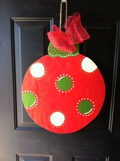 Ornament Wooden Door Hanger by TheButterbean1 on Etsy, $28.00