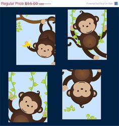 Monkey Nursery Art
