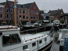 Boats in the marina of Sneek, Friesland
