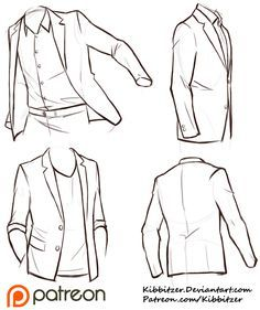 Clothes wrinkles; art reference // Jackets Reference Sheet by Kibbitzer on DeviantArt  ★ || CHARACTER DESIGN REFERENCES (https://www.facebook.com/CharacterDesignReferences & https://www.pinterest.com/characterdesigh) • Love Character Design? Join the #CDChallenge (link→ https://www.facebook.com/groups/CharacterDesignChallenge) Share your unique vision of a theme, promote your art in a community of over 40.000 artists! || ★