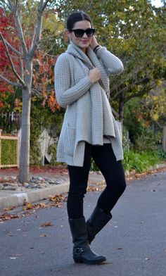 Oversized Knit Cardigan.