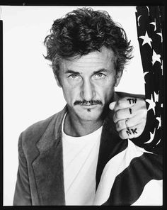 Richard Avedon's portrait of Sean Penn in 'Performance' > (¸ 2008 The Richard Avedon Found.