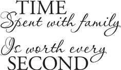 """All 12 """"numbers"""" are framed photos o family with real working clock hands and this saying in the center"""