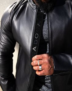 Leather Jacket Outfits, Men's Leather Jacket, Jacket Men, Leather Men, Stylish Mens Outfits, Casual Outfits, Men Casual, Stylish Clothes For Men, Custom Leather Jackets