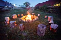 a campire setting during your reception. Love it.