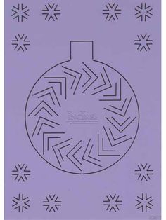 incire template for Christmas ball to purchase from ecstasycrafts.com