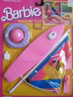 Beach Water Ski Glasses Pink Purple A Doll Sized Toy Accessories Scuba Boat