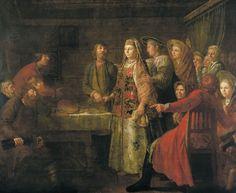 Шибанов Михаил «Празднество свадебного договора» 1777