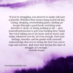 Lessons Learned in Life: Healing first and what a validating statement for anyone to read who has struggled ♡