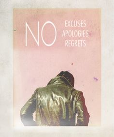Absolutely! ;-) I will never apologize for something I never did. I will never apologize for being me!