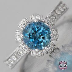 Santa Maria Aquamarine Engagement Ring