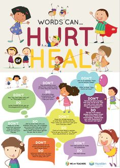 Great poster that teaches kids about the power of WORDS to build friends up!