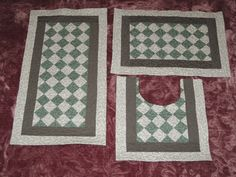 Conjunto tapetes de banheiro verde em Seminole