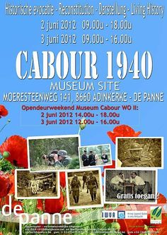 """oorlogsmuseum cabourg,museum """"WO II cabour""""  -moeresteenweg 141 8660 adinkerke,-museum cabourg,adinkerke,opendeur"""