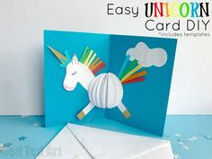 3D Unicorn Card DIY - Red Ted Art's Blog