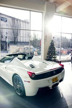 Ferrari 458 Spider in White would be a dream xmas gift.