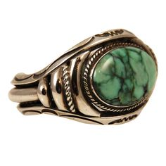 Orville Tsinnie Silver Turquoise Cuff Bracelet