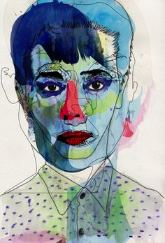 red-lipstick:  Alvaro Tapia Hidalgo (Chile) - Blue, 2012   Drawings