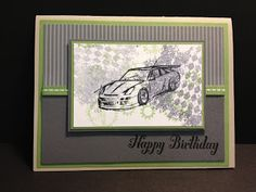 Stampin' Up! Need for Speed masculine card.  And quick to make too!