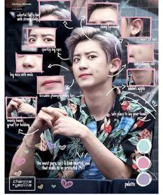 His eye make me killed slowly😆 Chanbaek, Chansoo, Baekhyun Chanyeol, Luhan And Kris, Exo Lockscreen, Xiuchen, Kpop Exo, Exo Members, Kpop Aesthetic