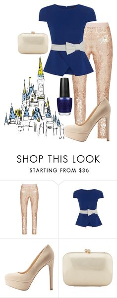 """""""Disneyland 60th Anniversary Show on ABC"""" by magikate ❤ liked on Polyvore featuring BCBGMAXAZRIA, Qupid, Serpui, OPI, disney, disneyland and ABC"""