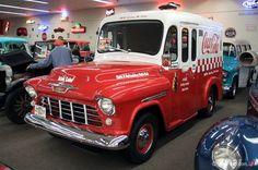 Coca-Cola Chevrolet delivery truck.